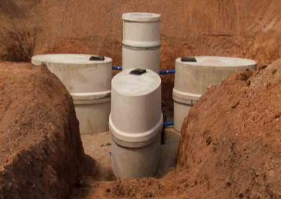 Image of pump chambers in the ground installation